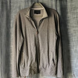 Banana Republic Gray Zip-up Sweatshirt Jacket
